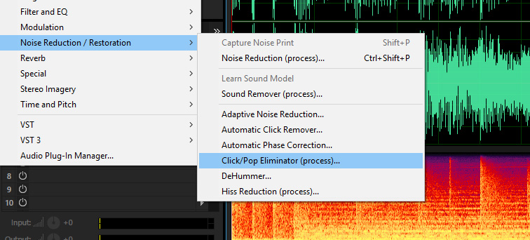 click pop eliminator adobe audition